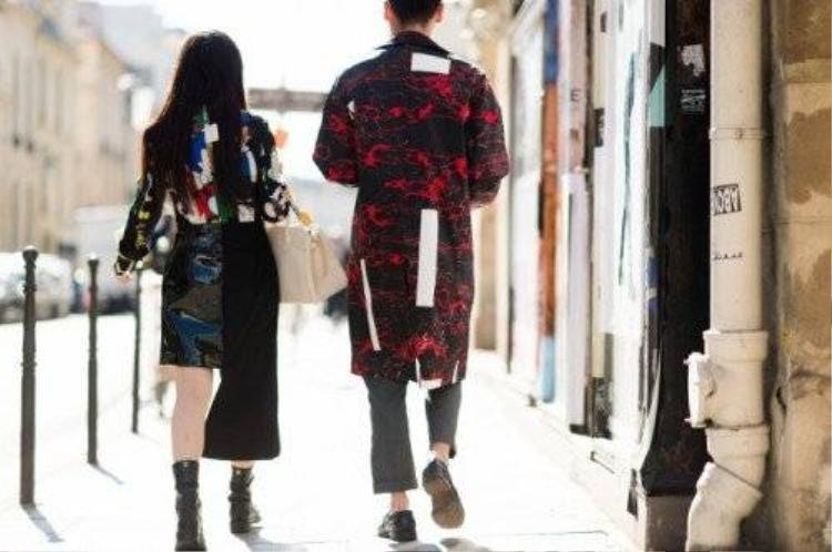 Kinh đô thời trang Paris nổi loạn phong cách street style