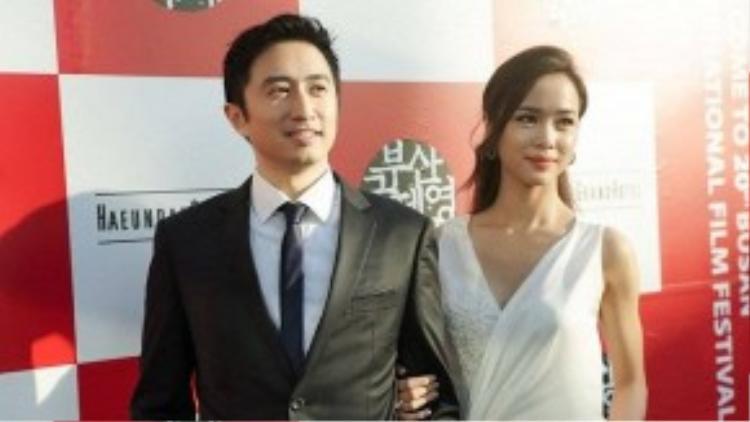 Hai diễn viên đẹp đôi trên thảm đỏ