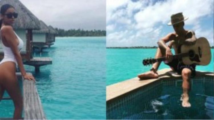 Trên trang cá nhân, Justin và Jayden chia sẻ những hình ảnh trên hòn đảo nhưng không chụp cùng nhau. Trang Hollywood Life tiết lộ, cả hai từng dành 1 tuần vui chơi bên nhau hồi tháng 5.