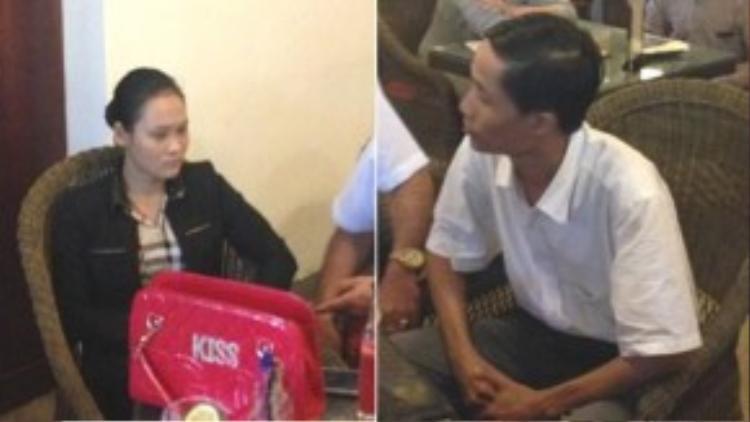 2 đối tượng Lương Thị Tường Vy, người tự nhận là Đặng Thu Tâm, quản lý của Hoa hậu Việt Nam 2012 Đặng Thu Thảo và người đi cùng Nguyễn Quang Vinh.