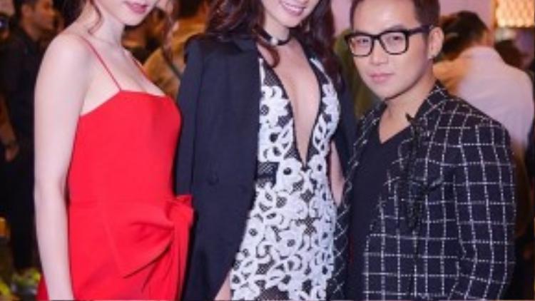 Diễm My, Trương Tri Trúc Diễm mỗi người một vẻ bên cạnh nhà thiết kế Chung Thanh Phong.