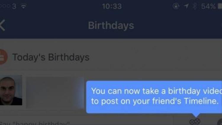 Facebook sẽ tràn ngập video chúc mừng sinh nhật