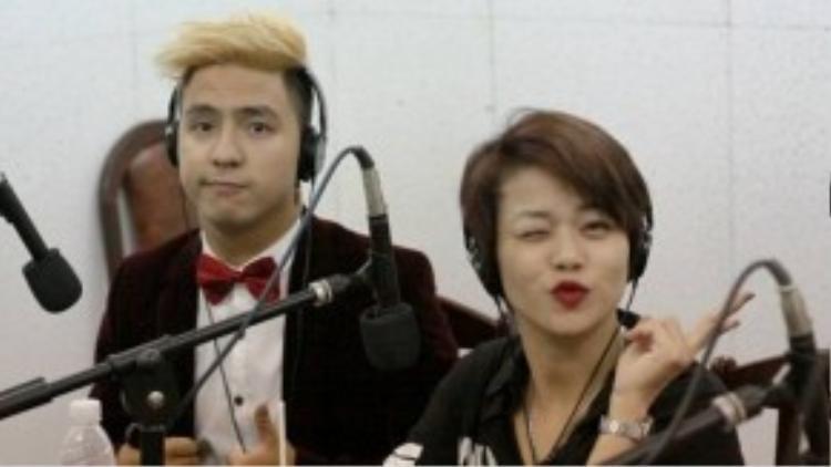 Nhạc sĩ Tăng Nhật Tuệ và ca sĩ Hải Yến.