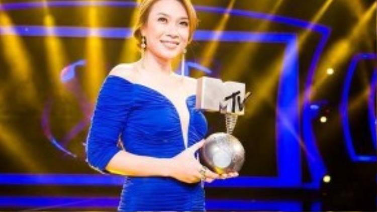 Mỹ Tâm từng giành cúp MTV EMA 2012 ở hạng mục Best South-East Asia Act.