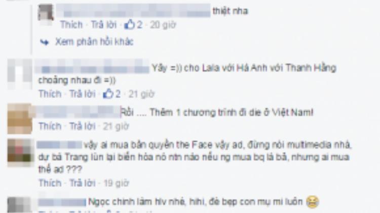 Cư dân mạng thích thú dự đoán bộ ba giám khảo The Face tại Việt Nam sẽ là Hà Anh, Thanh Hằng và Ngọc Trinh.