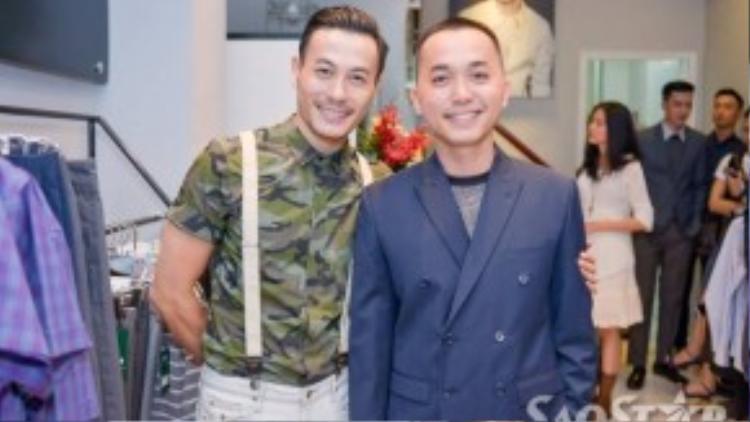 Trương Thanh Long đến mừng người bạn Trần Minh Dũng.