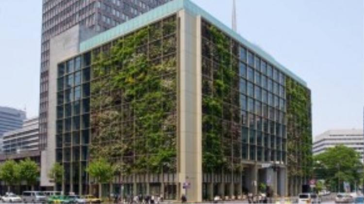 Nhìn từ bên ngoài, trụ sở chính của Pasona trông không khác bất kỳ một tòa nhà văn phòng nào,ngoại trừ việc ban công trồng nhiều cây xanh.