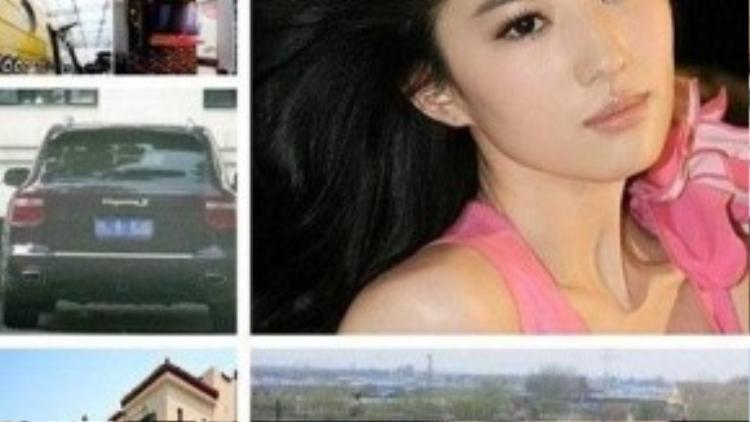 Lưu Diệc Phi sở hữu lắm nhà và xe.