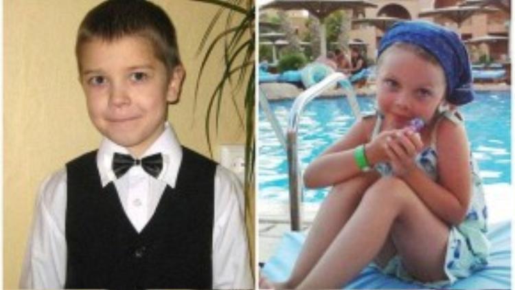 Anton Bogdanov và Alena Moiseeva là 2 trong số 17 trẻ em có mặt trên chuyến bay xấu số.