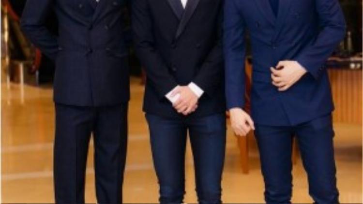 Sự kiện còn có trai đẹp Võ Cảnh và người mẫu trẻ Bin Phạm và ông bầu Khắc Tiệp.