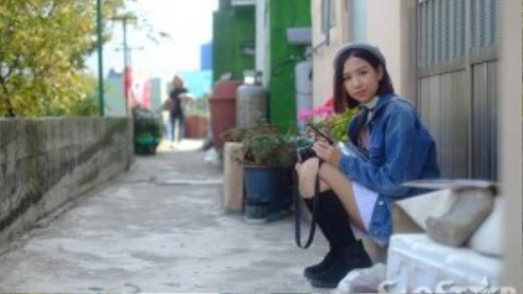 Min không quên ghi lại hình ảnh những địa điểm mà mình đã đi qua.