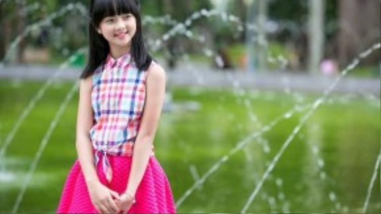 Mới đây, vai diễn cô bé Mận trong Tôi thấy hoa vàng trên cỏ xanh một lần nữa khẳng định tài năng diễn xuất hiếm có của Thanh Mỹ.