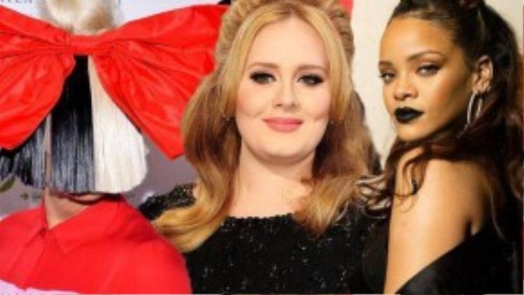 Ca khúc Adele sáng tác cùng Sia bị Rihanna lắc đầu.