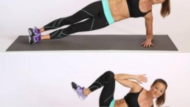 Khi đã tập quen, bạn có thể thay đổi tư thế plank khó hơn