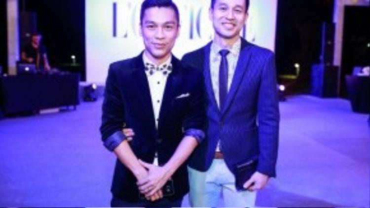 Cặp đôi nổi tiếng: nhà thiết kế Adrian Anh Tuấn và bạn đời.