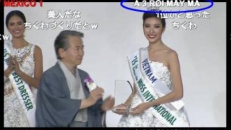 Dòng bình luận khiến nhiều khán giả Việt Nam phải bật cười khi Thúy Vân đoạt giải.