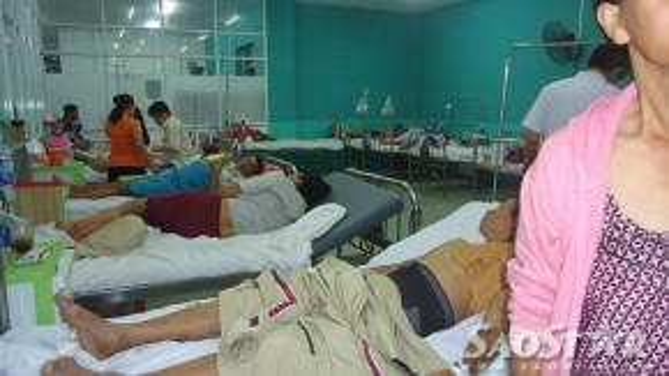 Các nạn nhân đang được điề trị tại bệnh viện quận Bình Tân.