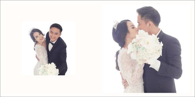 Tú Vi để lộ hình xăm trong bộ ảnh cưới trước giờ G