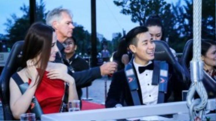 Hoa hậu Mai Phương Thúy là mỹ nhân duy nhất trải nghiệm bữa tiệc đặc biệt này.