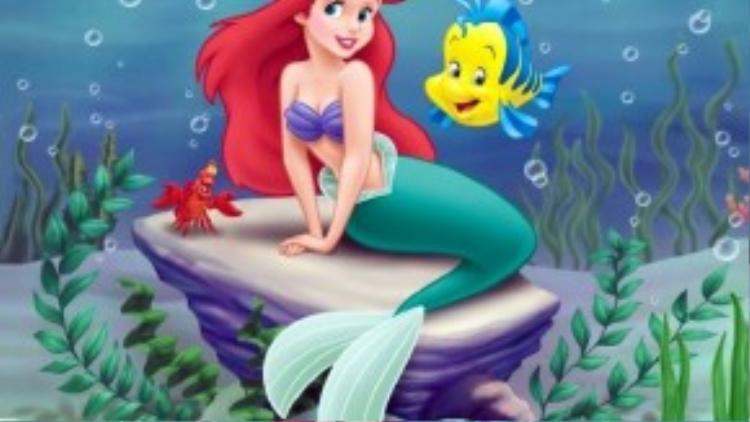 Ariel đáng yêu và mộng mơ trong tác phẩm kinh điển của Disney.