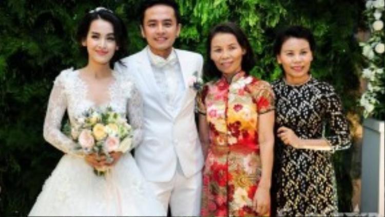 Mẹ của Hồ Ngọc Hà bất ngờ xuất hiện trong đám cưới Tú Vi.