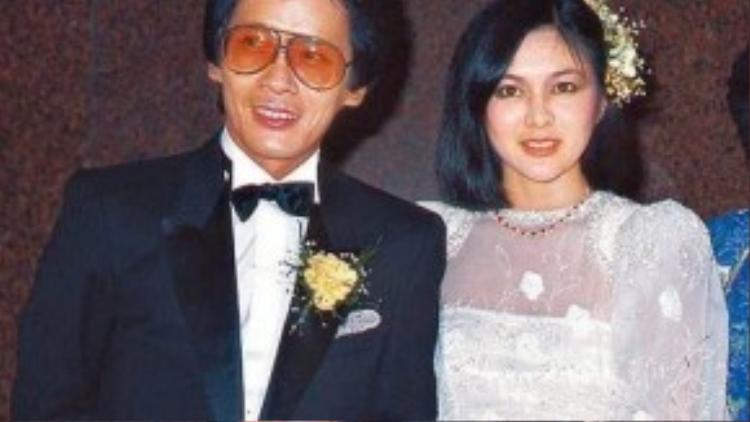 Quan Chi Lâm và người chồng đầu tiên. Họ chia tay khi đại gia có bồ trẻ hơn.
