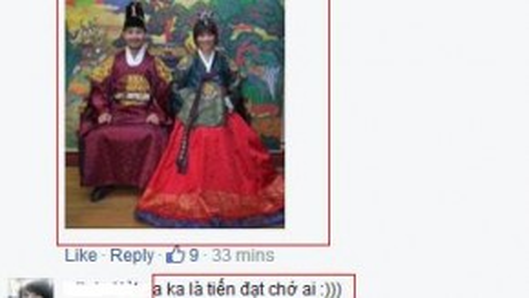Tấm ảnh đáng yêu của cả hai được fan nhanh chóng tìm ra để đáp trả bức hình Hoàn châu cách cách của Hari.