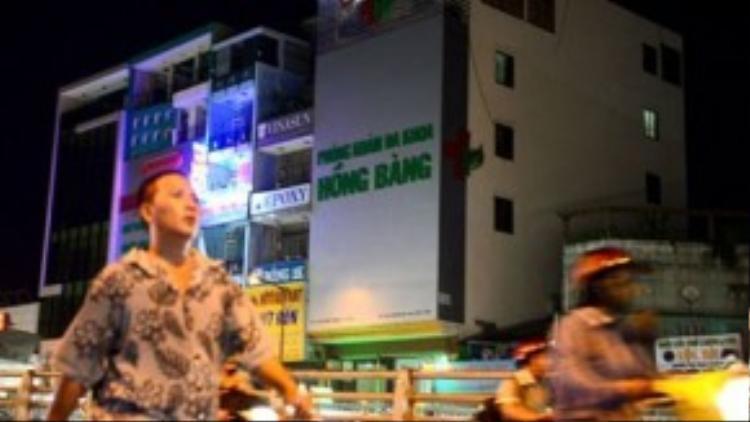 Phòng khám đa khoa Hồng Bàng trên đường Hồng Bàng, P.9, Q.6, TP.HCM.