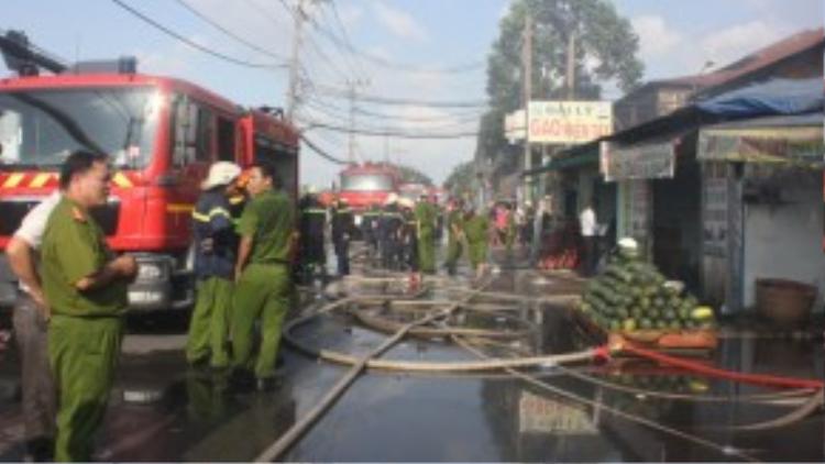 Lực lượng chữa cháy đã dập được lửa.