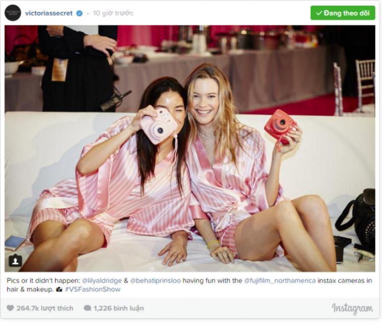Cập nhật Victorias Secret 2015 qua Instagram của các thiên thần