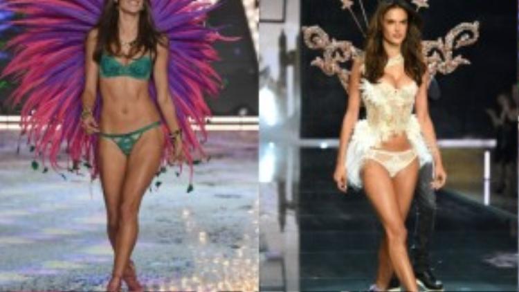 Siêu mẫu Alessandra Ambrosio cũng nổi bật đôi cánh tương tự.