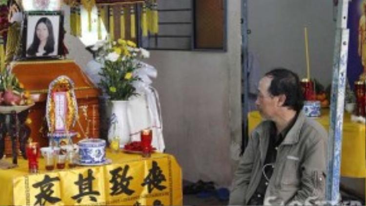 Đám tang của chị Loan được tổ chức giản dị tại tư gia nhà nội vì hiện tại cả gia đình không còn chỗ để tá túc.