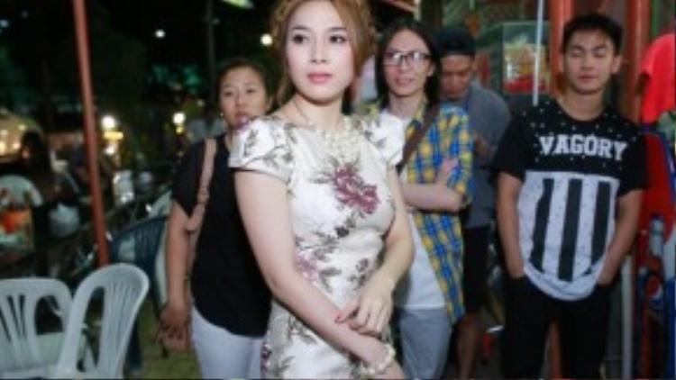 Nữ ca sĩ thể hiện thái độ gay gắt khi người hâm mộ không được xếp chỗ trong một live show tại The Voice.