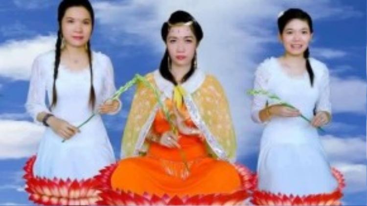 Mỹ Châu tự nhận mình ngang hàng với thần tiên, lấy tôn tượng và hình ảnh Phật để dụ dỗ, lừa đảo dân chúng.