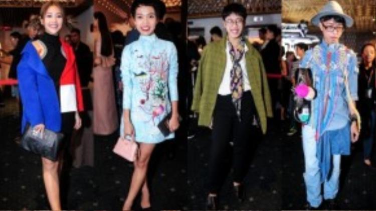 Các tín đồ thời trang thỏa sức thể hiện phong cách của riêng mình tại fashion show.