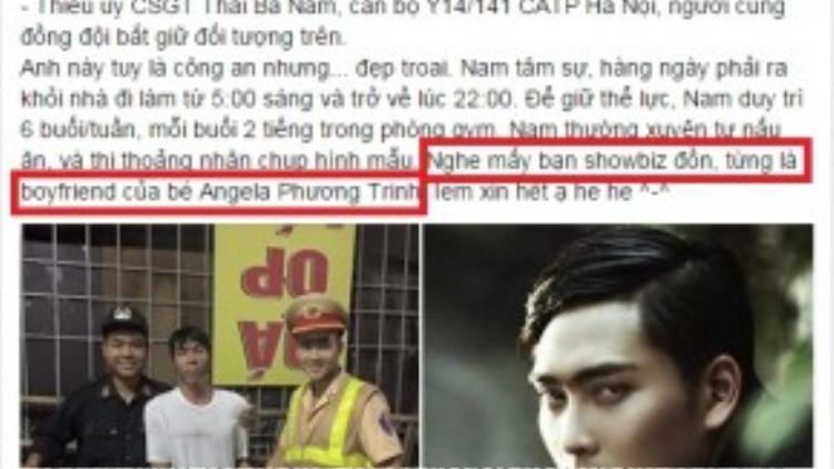 Nhà báo, blogger Hương Trà cũng đề cập đến tình tiết này trên trang cá nhân.