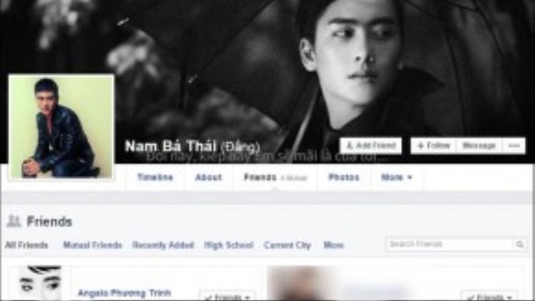Thái Bá Nam và Angela Phương Trinh là bạn bè của nhau trên Facebook.
