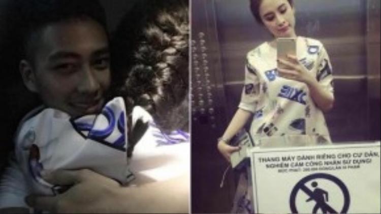 Hai tấm ảnh làm rộ lên nghi án tình cảm của Angela Phương Trinh - Thái Bá Nam.