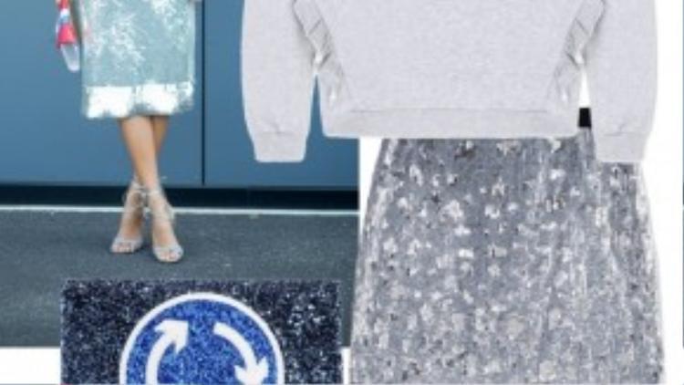 Trời bắt đầu se lạnh và một chiếc váy sequin không khiến bạn nhàm chán trong những màu sắc âm u của trang phục mùa lạnh.