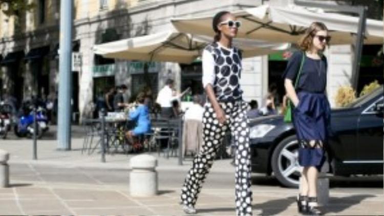 Một fashionista nổi bật trong tuần lễ thời trang Paris thời gian qua.