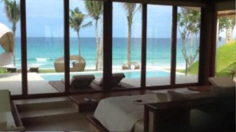 Không gian lãng mạn, sang trọng và đẳng cấp của resortFusion,nơi vợ chồng Thủy Tiên - Công Vinh nghỉ dưỡng khiến nhiều người xuýt xoa, ghen tỵ.
