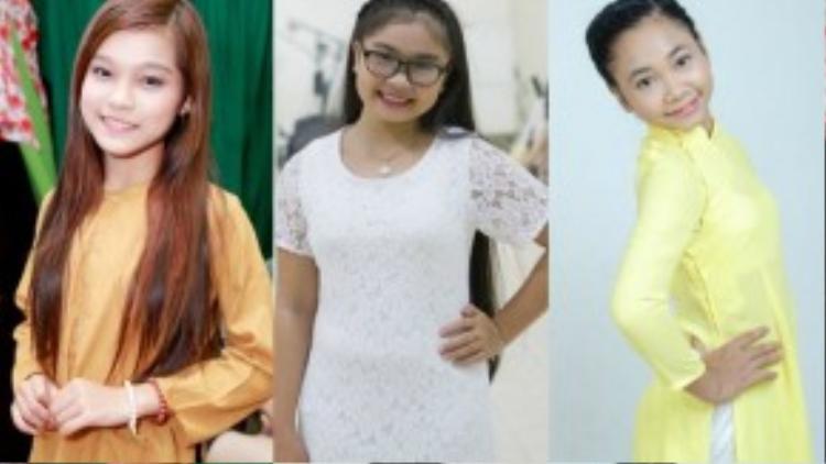 3 ca sĩ nhí: Phạm Tuyết Nhung, Thiện Nhân và Thiên Vũ.