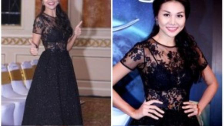 Dù diện trang phục cá tính hay nữ tính, Thanh Hằng luôn có những ứng dụng bắt kịp mốt hiện hành.