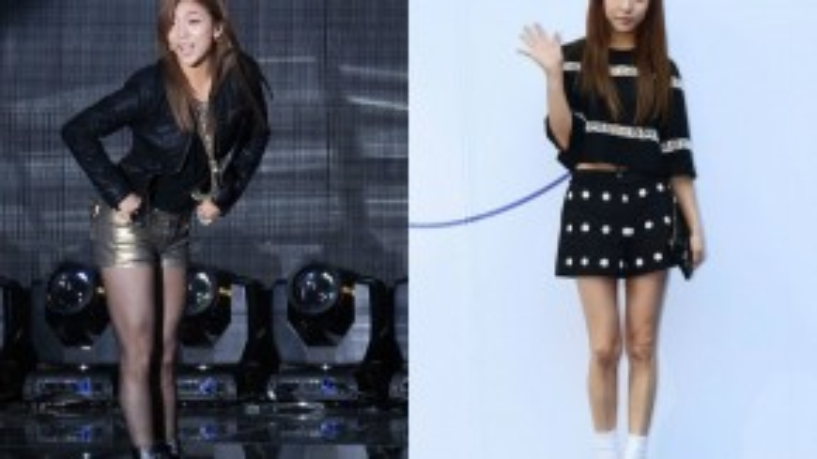 """Gần đây, đôi chân của thành viên nhóm f(x) Luna thon thả hơn nhờ giảm cân. Trước đây, trong chương trình Strong Heart, Luna thú nhận """"đôi chân voi"""" từng khiến cô mặc cảm rất nhiều."""
