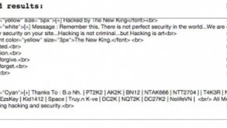 """Tin nhắn đe dọa được cho là từ """"New Kings"""" gửi đến người dùng."""