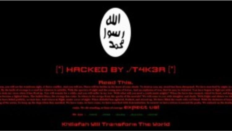 """Hình ảnh trang web do các bạn trẻ """"hack"""" được, với biệt danh đặt bên dưới."""