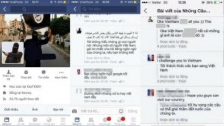 Người Việt tự lập trang web thành viên IS và có nhiều lời lẽ khiếm nhã.