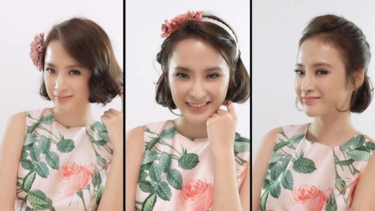 SaoStyle: Angela Phương Trinh cực đáng yêu khi biến hóa 3 kiểu tóc