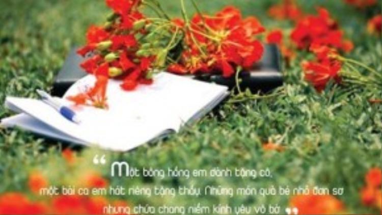 Cùng với Bụi phấn, nhạc sĩ Vũ Hoàng cũng sáng tác ca khúc được nhiều thế hệ thiếu nhi yêu thích là Thầy cô cho em mùa xuân. Bài hát mang thông điệp nhẹ nhàng về công lao của thầy cô giáo cũng như tình cảm của học trò luôn hướng về những người từng dạy dỗ, chỉ bảo.