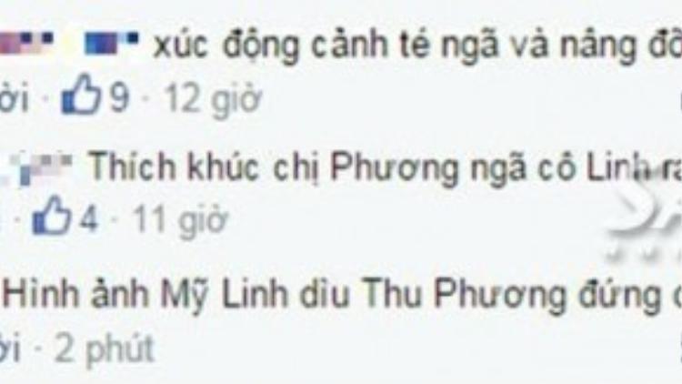 Cư dân mạng bình luận xoay quanh hành động đẹp của diva Mỹ Linh trên sân khấu.